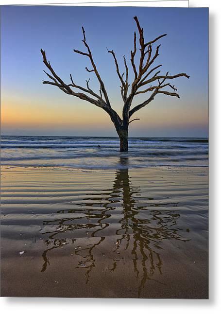 Rippled Reflection - Botany Bay Greeting Card by Rick Berk