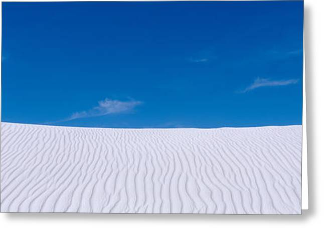 White Sands National Monument Greeting Cards - Rippled Sand In The Desert, White Sands Greeting Card by Panoramic Images