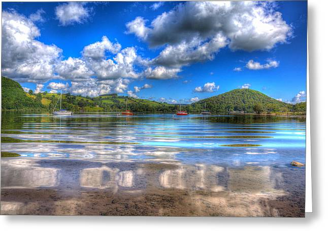 Peaceful Scene Greeting Cards - Ripples on an English lake Greeting Card by Michael Charles