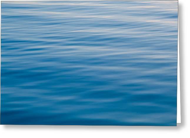Rippling Water At Sundown Greeting Card by Panoramic Images