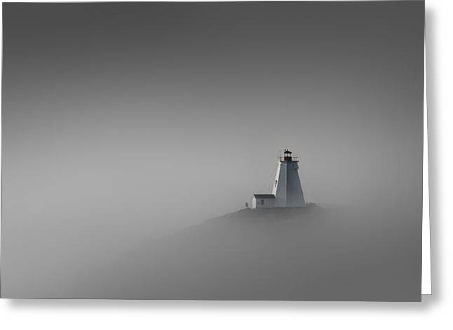 Foggy Ocean Greeting Cards - Rise Above Greeting Card by Peter Scott