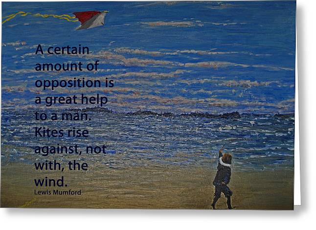Opposition Paintings Greeting Cards - Rise Against The Wind Greeting Card by Ian  MacDonald