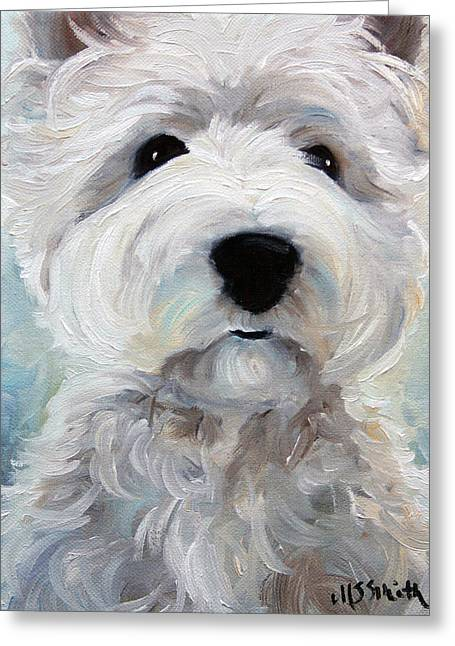 Westie Art Greeting Cards - Rise and Shine Greeting Card by Mary Sparrow