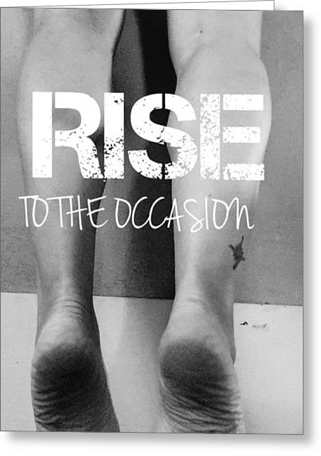 Rise Greeting Card by Sara Young
