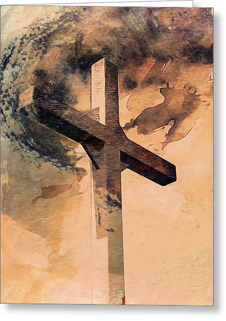 Jesus Mixed Media Greeting Cards - Risen  Greeting Card by Aaron Berg