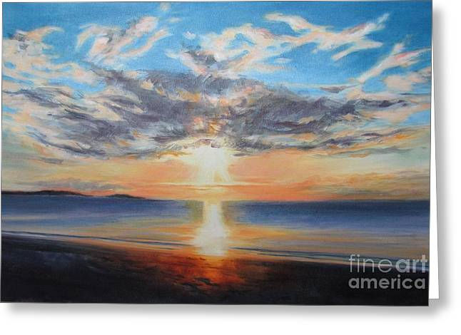 Recently Sold -  - Saw Greeting Cards - Risen Greeting Card by Lynne Schulte