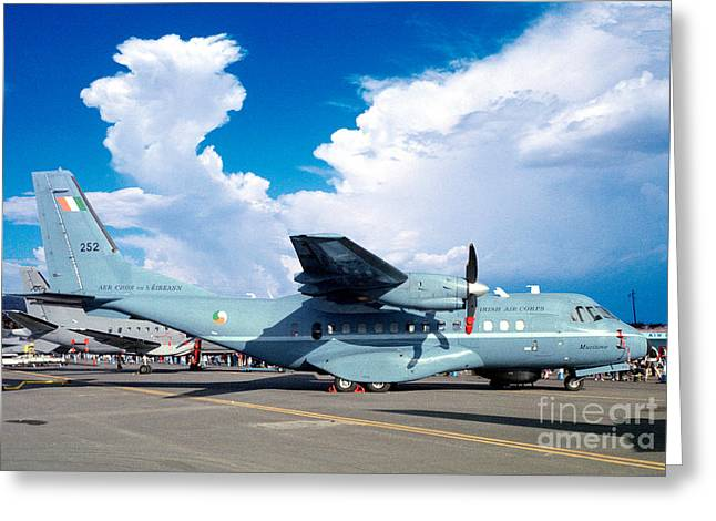 Irish Air Corps, Casa Cn-235-100m, Twin-engine Tactical Airlifter Greeting Card by Wernher Krutein
