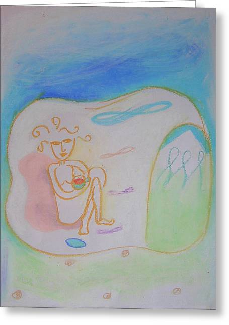 Cave Pastels Greeting Cards - Rishikesh Greeting Card by Jelila Jelila