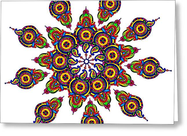 Oil Tapestries - Textiles Greeting Cards - Rishta Greeting Card by Amardeep Lall