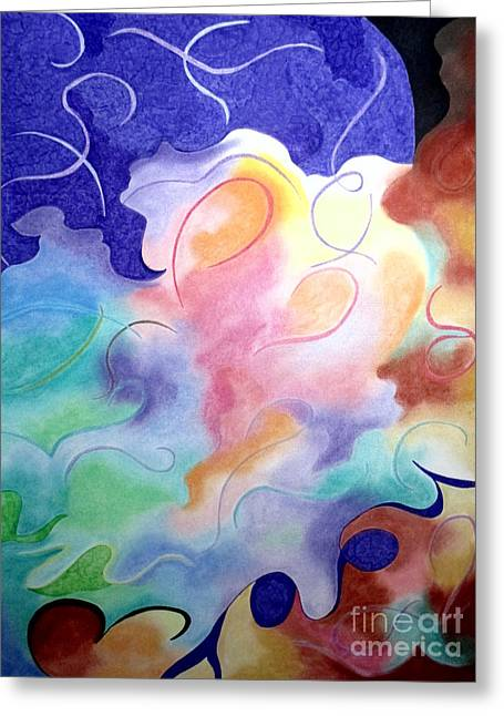 Dove Pastels Greeting Cards - Rising Above Dichotomy Greeting Card by Kathleen Allen