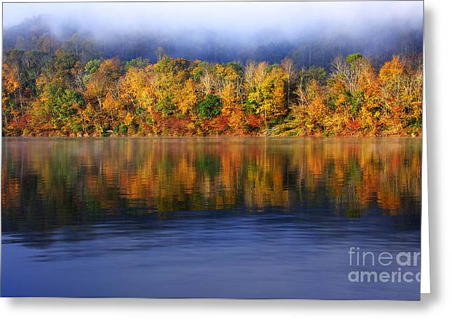 Rv Greeting Cards - Rising Fog Fall Color Greeting Card by Thomas R Fletcher