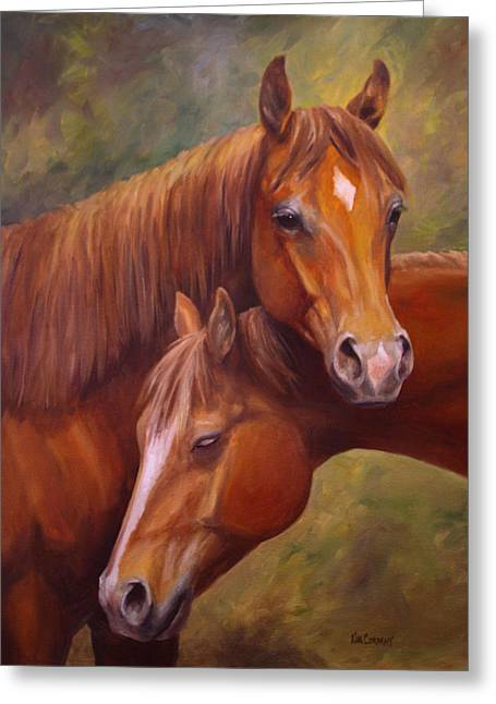 Horse Greeting Cards - Rising Stars Greeting Card by Kim Corpany