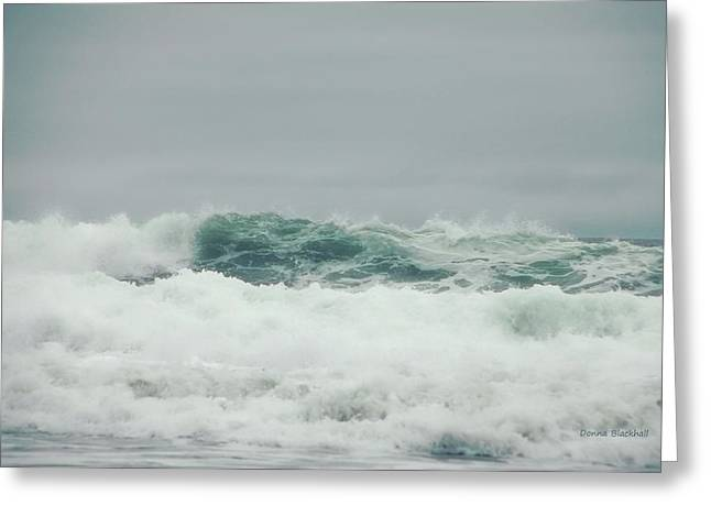 Rising Tide Greeting Card by Donna Blackhall