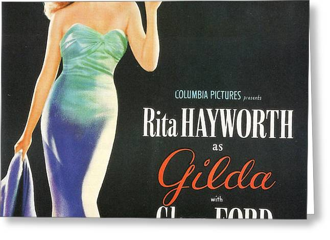 Rita Hayworth as Gilda Greeting Card by Nomad Art And  Design