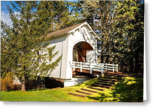 Covered Bridge Greeting Cards - Ritner Creek Covered Bridge Greeting Card by Kristina Rinell