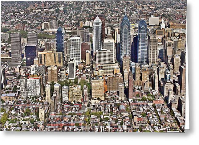 South Philadelphia Photographs Greeting Cards - Rittenhouse Square Area Philadelphia Greeting Card by Duncan Pearson