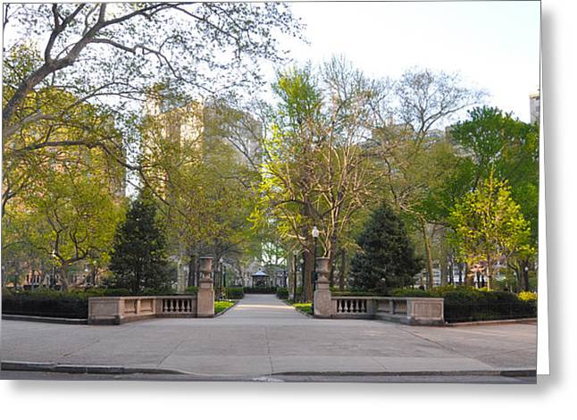 Rittenhouse Square Greeting Cards - Rittenhouse Square in the Morning Greeting Card by Bill Cannon