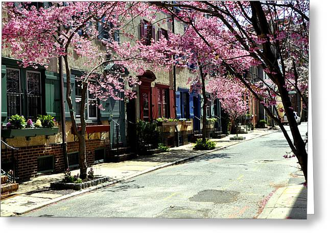 Rittenhouse Square Greeting Cards - Rittenhouse Square Neighborhood Greeting Card by Andrew Dinh