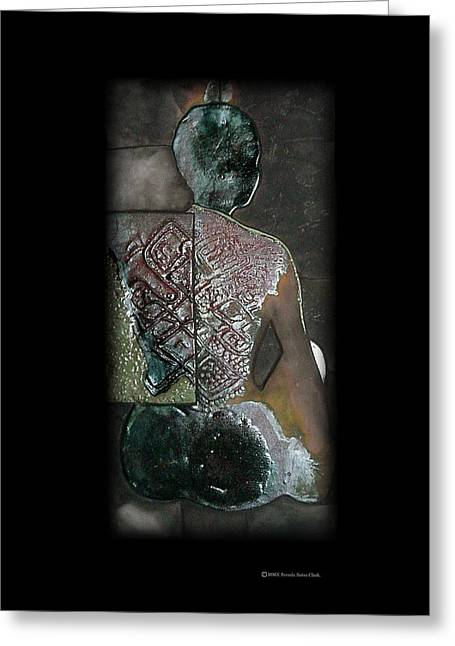 Raku Ceramics Greeting Cards - Ritual Transformation Greeting Card by Bates Clark