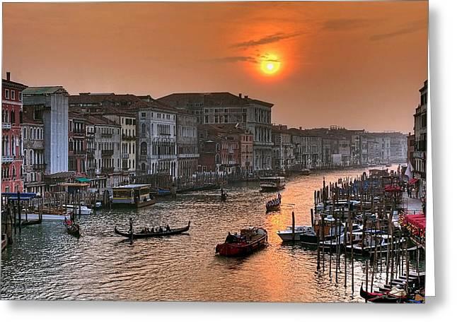 Riva del Ferro. Venezia Greeting Card by Juan Carlos Ferro Duque