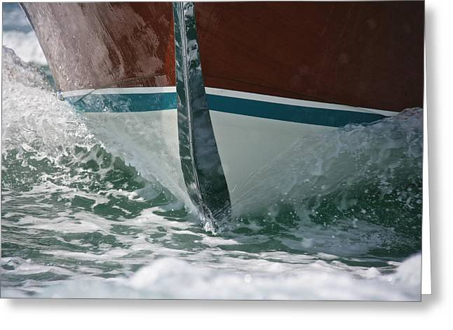 Portofino Italy Greeting Cards - Riva Runabout Greeting Card by Steven Lapkin