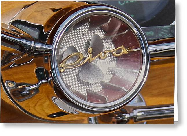 Riva Greeting Cards - Riva Steering Hub Greeting Card by Steven Lapkin