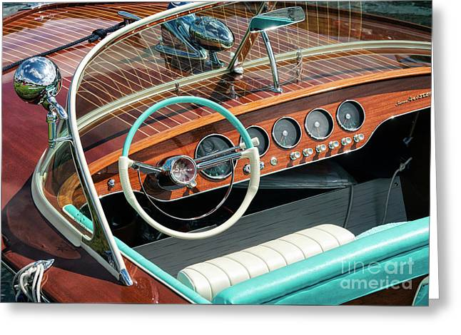 Riva Super Ariston Dash Greeting Card by Tim Gainey
