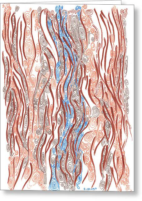 River And Woods Greeting Card by Regina Valluzzi