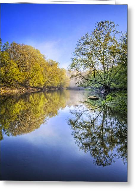 Tennessee River Greeting Cards - River Beauty II Greeting Card by Debra and Dave Vanderlaan