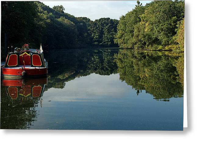Blackstone River Greeting Cards - River Boat Greeting Card by Barry Doherty