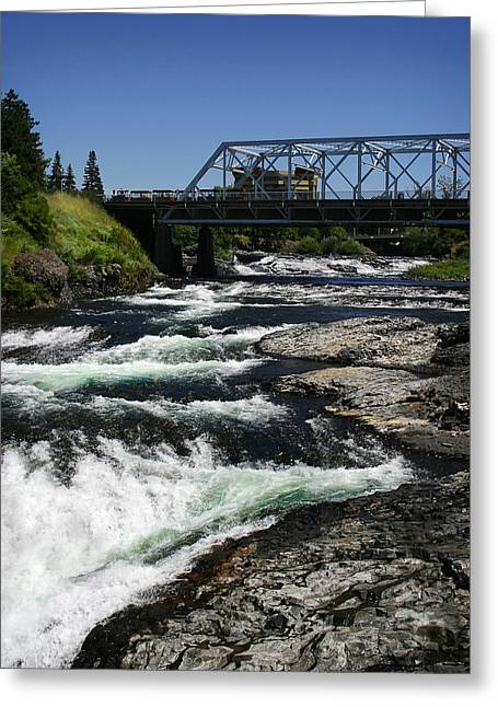 Spokane Greeting Cards - River Bridge Greeting Card by Anthony Jones