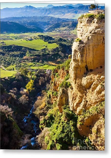 Photoart Greeting Cards - River Deep Mountain High Greeting Card by Lutz Baar