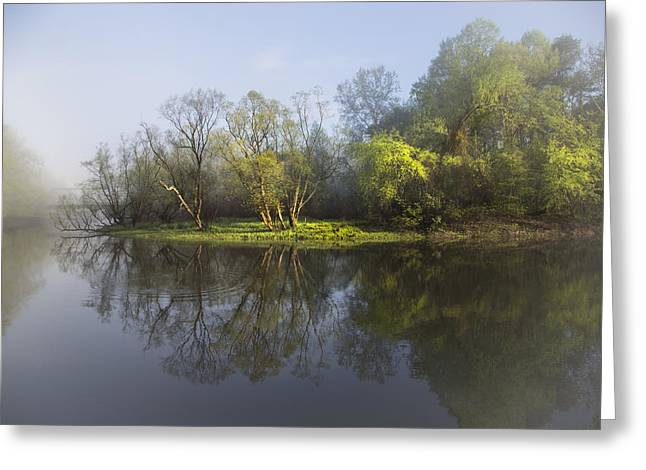 Tennessee Farm Greeting Cards - River Dreams Greeting Card by Debra and Dave Vanderlaan