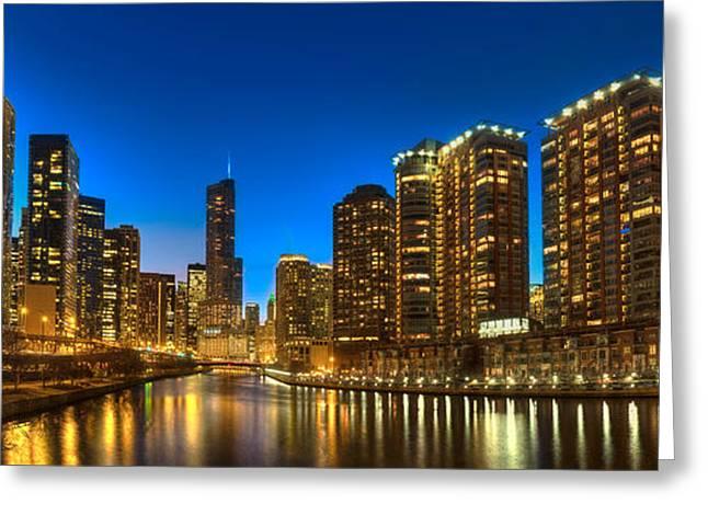 River East Chicago Greeting Card by Steve Gadomski