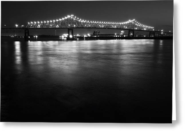 Mississippi Photographs Greeting Cards - River Lights Greeting Card by John Gusky