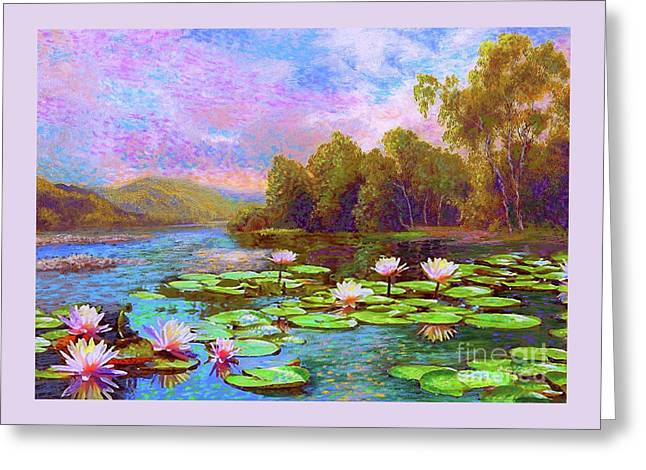 The Wonder Of Water Lilies Greeting Card by Jane Small