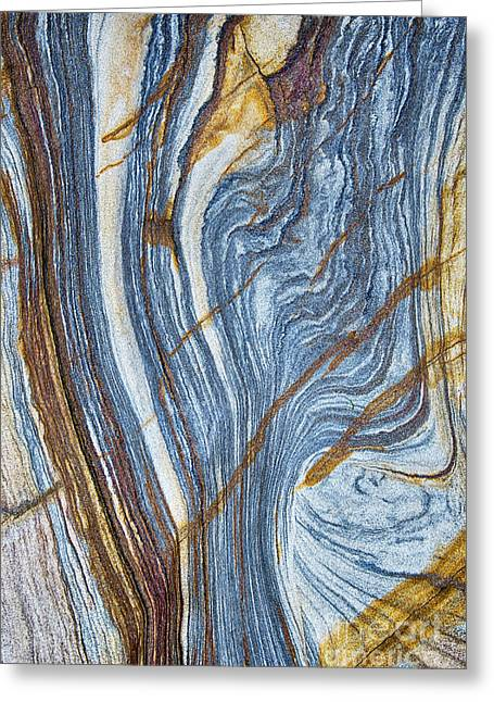 Stratum Greeting Cards - River of Rock  Greeting Card by Tim Gainey