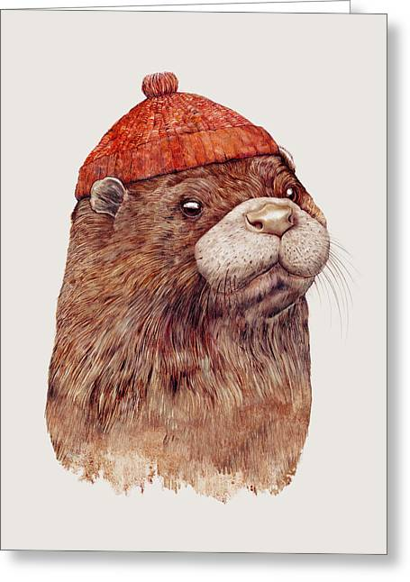 River Otter Greeting Card by Animal Crew