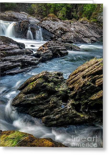 Stream Digital Greeting Cards - River Passing Greeting Card by Adrian Evans