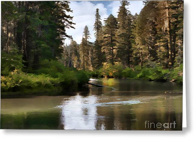 Millers Creek Painterly Greeting Card by Peter Piatt