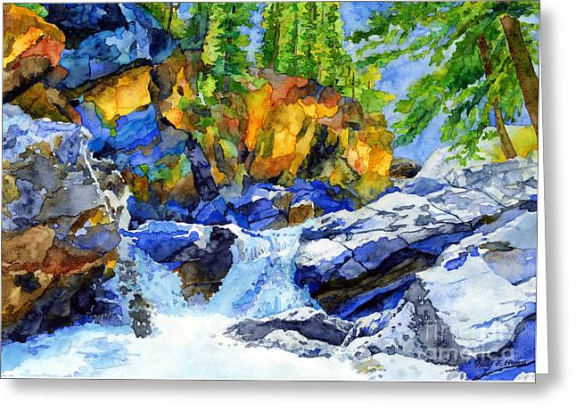 Natural Pool Greeting Cards - River Pool Greeting Card by Hailey E Herrera