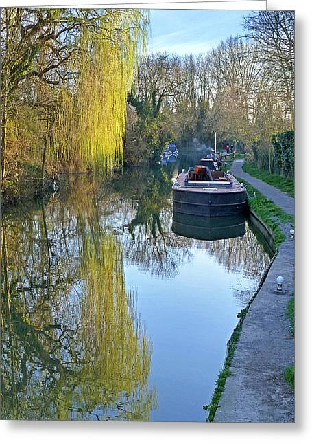 River Reflections  Greeting Card by Gill Billington