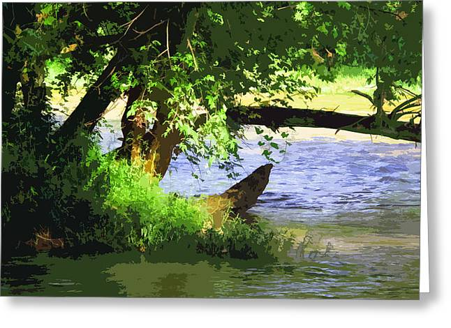 Beckon Greeting Cards - River Ripple Voices Greeting Card by Charlie Spear
