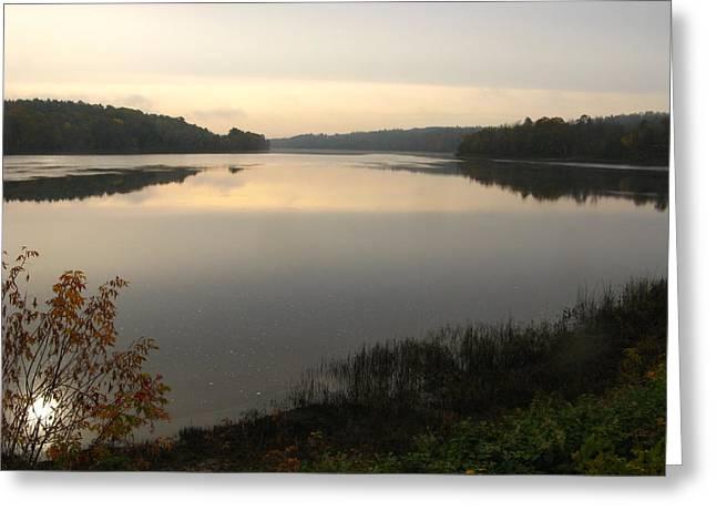 Vacationland Greeting Cards - River Solitude Greeting Card by Bill Tomsa