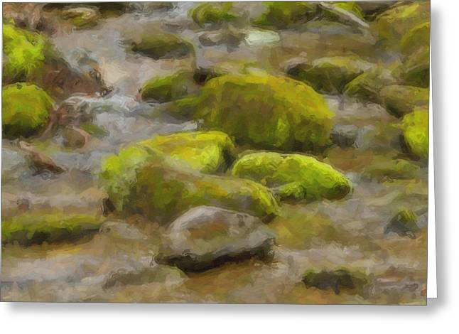 River Stones Greeting Card by Paul Bartoszek