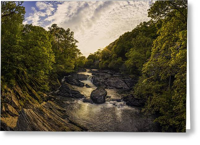 White Photographs Greeting Cards - River Sunset Greeting Card by Ian Mitchell
