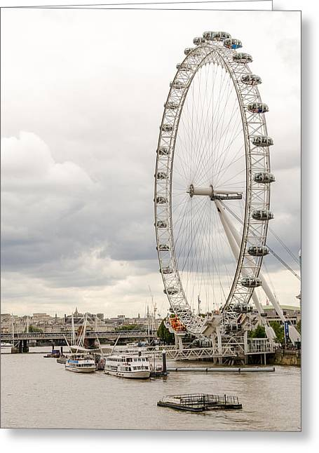 River Thames And The London Eye Greeting Card by John Williams