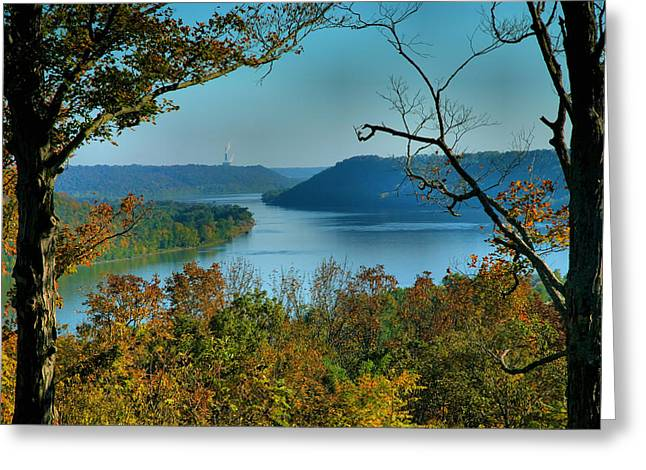 River Prints Greeting Cards - River View I Greeting Card by Steven Ainsworth