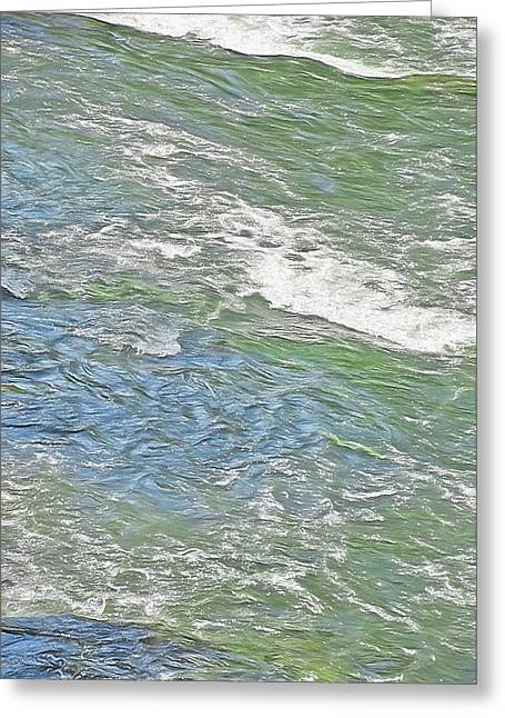 Bubbly Mixed Media Greeting Cards - River Water Abstract - Provo Canyon Utah Greeting Card by Steve Ohlsen