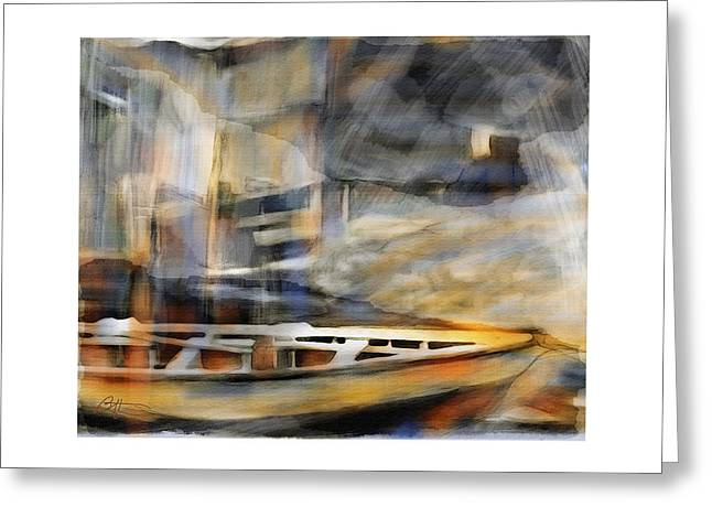 Row Boat Greeting Cards - Riverboat Greeting Card by Bob Salo